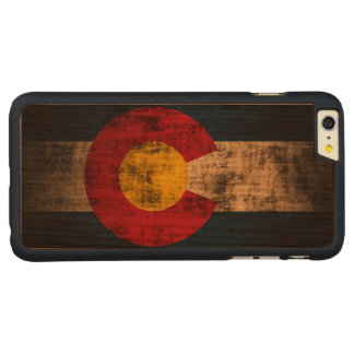 Vintage Grunge State Flag of Colorado Carved® Cherry iPhone 6 Plus Case
