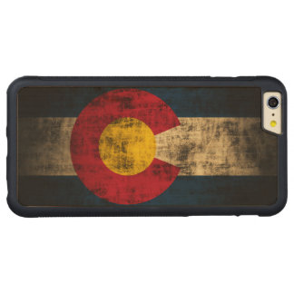 Vintage Grunge State Flag of Colorado Carved® Maple iPhone 6 Plus Bumper Case