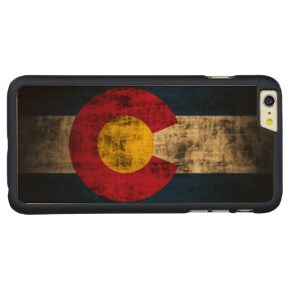 Vintage Grunge State Flag of Colorado Carved® Maple iPhone 6 Plus Case