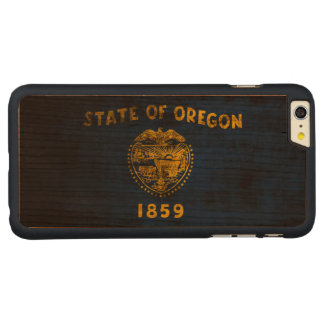 Vintage Grunge State Flag of Oregon Carved® Cherry iPhone 6 Plus Case