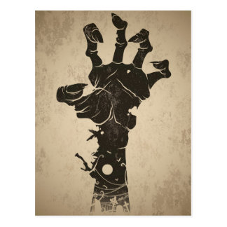 Vintage Halloween Icon - Zombie Hand Postcard
