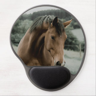 vintage horse animal painting art gel mouse pad