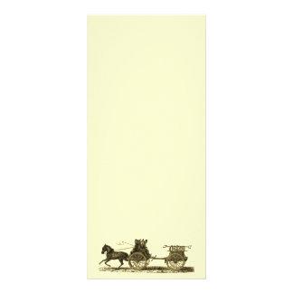 Vintage Horse Drawn Fire Engine Illustration Personalised Rack Card