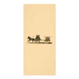 Vintage Horse Drawn Fire Engine Illustration Rack Cards