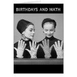 Vintage Humour Birthdays and Math (Card) Greeting Card