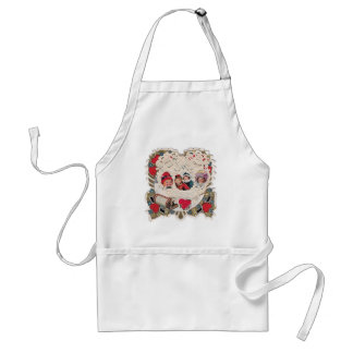 Vintage Illustrated Picture Standard Apron