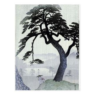 Vintage Japanese Tree Postcard
