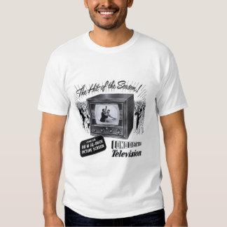 Vintage Kitsch Television B&W TV AD T Shirts