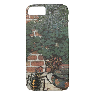 Vintage Little Miss Muffet Spider Nursery Rhyme iPhone 7 Case