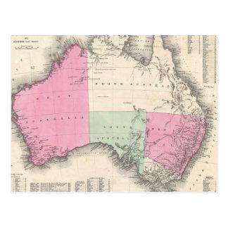 Vintage Map of Australia (1862) Postcard