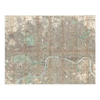 Vintage Map of London (1890) Postcard