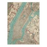 Vintage Map of New York City (1890) Postcard