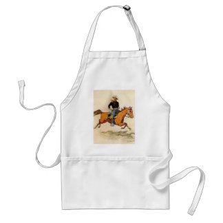 Vintage Military, A Cavalry Officer by Remington Standard Apron