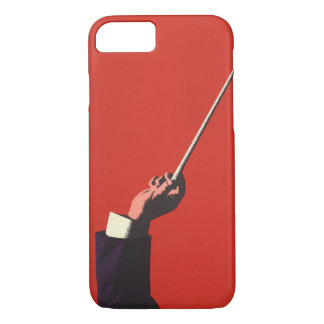 Vintage Music, Conductor's Hand Holding a Baton iPhone 7 Case