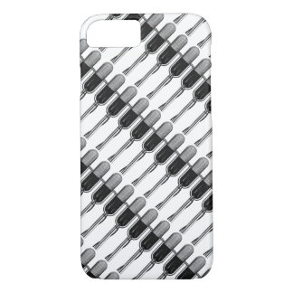 Vintage Music, Old Fashoined Retro Microphone iPhone 7 Case