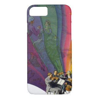 Vintage Music Rainbow, Man and Woman Dancers iPhone 7 Case
