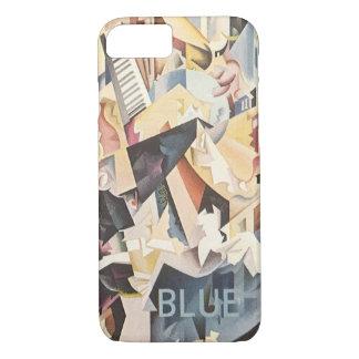 Vintage Music, Rhapsody in Blue Art Deco Jazz iPhone 7 Case