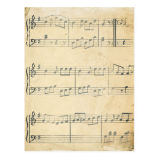Vintage Music Sheet Postcard
