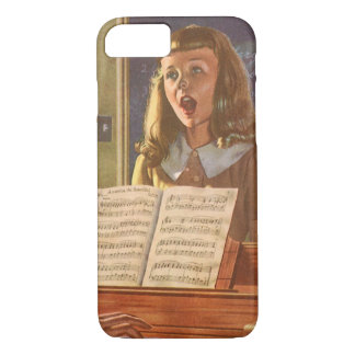 Vintage Music Teacher Teaching Students to Sing iPhone 7 Case