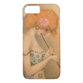 Vintage Music Victorian Angel Musicians Flute Harp iPhone 7 Case