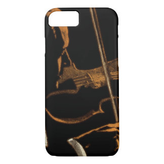 Vintage Musician, Violinist Playing Violin Music iPhone 7 Case