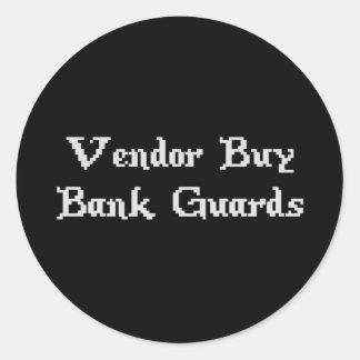 Vintage Online Gaming Vendor Buy Bank Guards Round Sticker