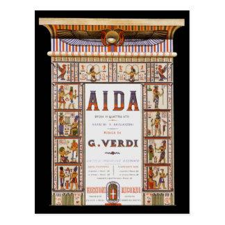 Vintage Opera Music, Egyptian Aida by Verdi Postcard