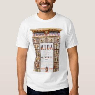 Vintage Opera Music, Egyptian Aida by Verdi Tee Shirts