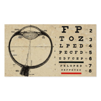 Vintage Ophthamologist Business Cards