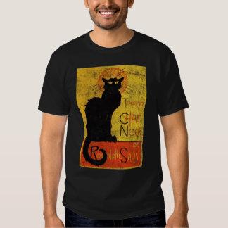 Vintage Orange Black Cat Chat Noir Art Halloween Shirt