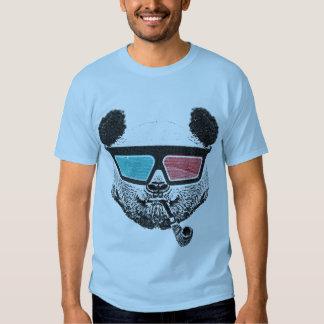 Vintage panda 3D glasses T Shirts