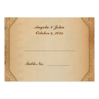 Vintage Parchment Scroll Place Card Pack Of Chubby Business Cards