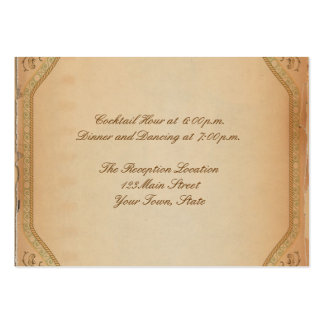 Vintage Parchment Scroll Reception Pack Of Chubby Business Cards