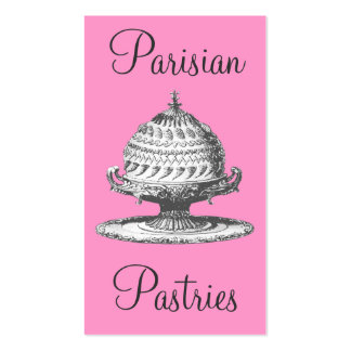 Vintage Pastries, Pink and Black Elegant Souffles Pack Of Standard Business Cards