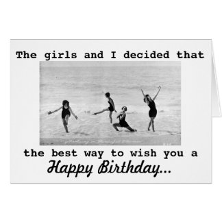 Vintage Photo Interpretive Dance Girls Birthday Greeting Card