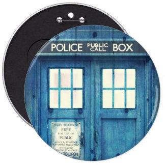 Vintage Police phone Public Call Box 6 Cm Round Badge
