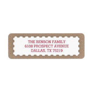 Vintage Postage Stamp Return Address Label