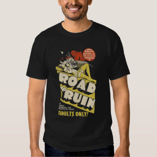 "Vintage ""Road to Ruin"" Movie Poster T-Shirt"