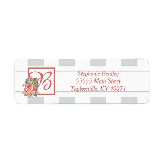 Vintage Rose Antique Wedding Return Address Label