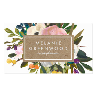 Vintage Rustic Florals Pack Of Standard Business Cards