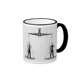 Vintage Scales of Justice, Labor vs Management Ringer Mug