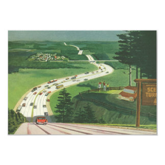 Vintage Scenic American Highways Change of Address 9 Cm X 13 Cm Invitation Card