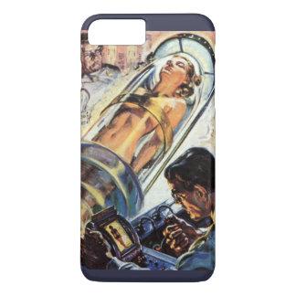 Vintage Science Fiction, Woman Lab Experiment iPhone 7 Plus Case