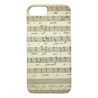 Vintage Sheet Music, Antique Musical Score 1810 iPhone 7 Case