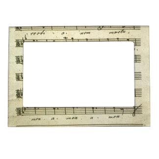 Vintage Sheet Music, Antique Musical Score 1810 Photo Frame Magnets