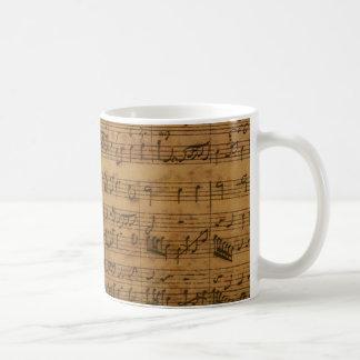 Vintage Sheet Music by Johann Sebastian Bach Basic White Mug