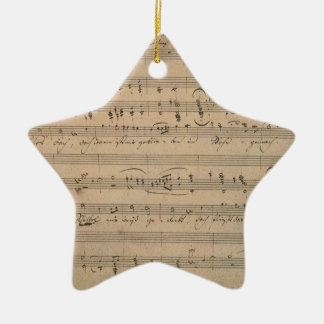 Vintage Sheet Music, Song of the Old Man, 1822 Ceramic Star Decoration