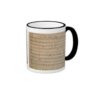 Vintage Sheet Music, Song of the Old Man, 1822 Ringer Mug