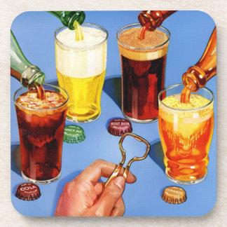 Vintage Soda Advertisement Coaster Set
