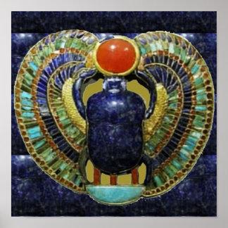 Vintage Spiritual COSMIC EGYPTIAN Temple Art Poster